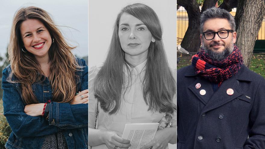 María Marco Covelo, Antonio Manuel Fraga e Andrea Maceiras, premiados nos Xerais 2020 de literatura
