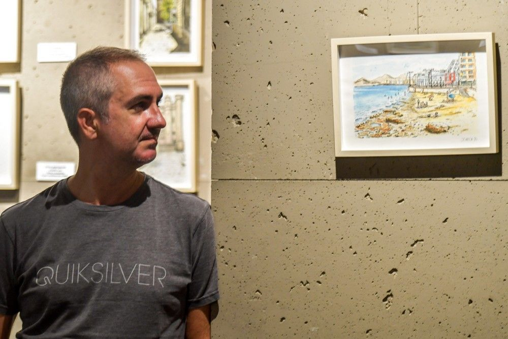 Exposición de ilustraciones de Las Palmas de Gran Canaria