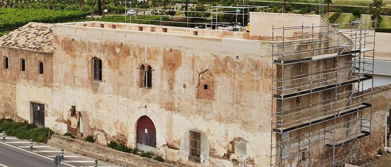 Perspectiva de la casa principal de la Granja de Sinyent ya con la cubierta plana.   IGNACIO MATOSES