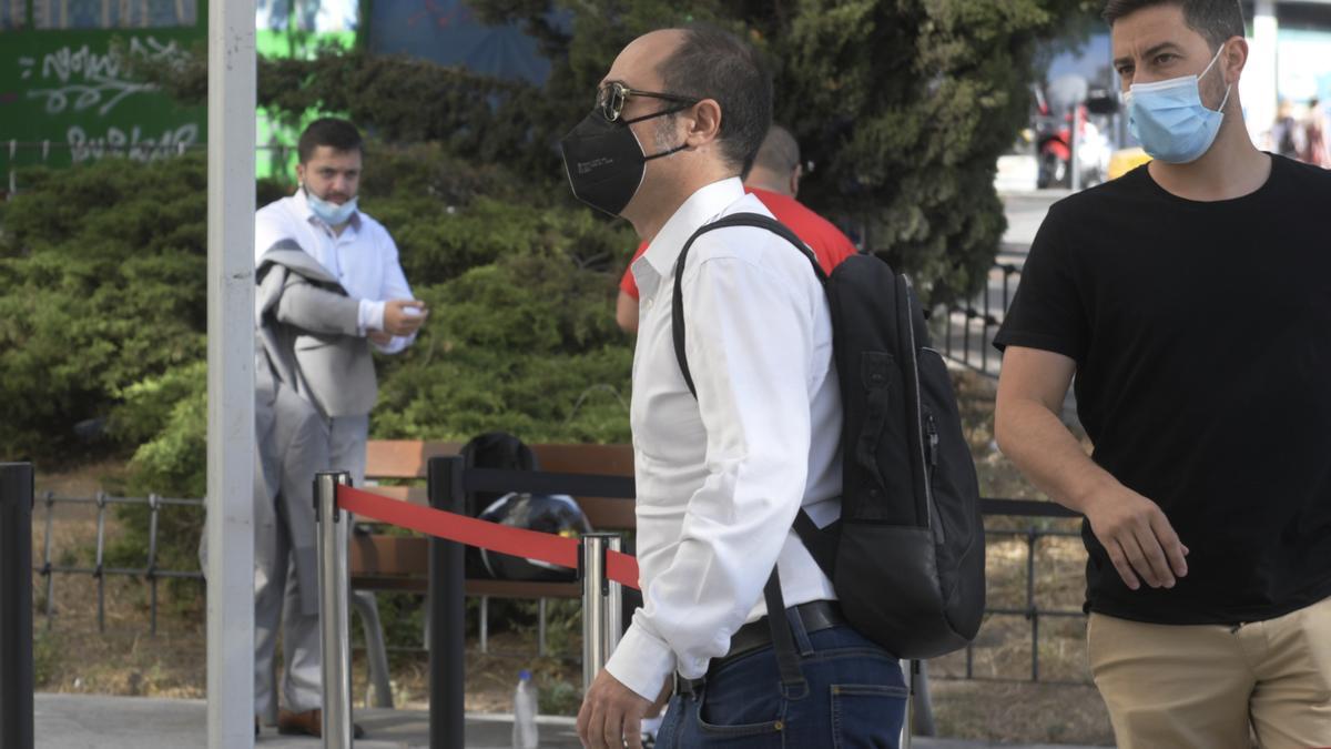 El tesorero de Podemos, Daniel de Frutos, acude a declarar por el 'caso niñera'.