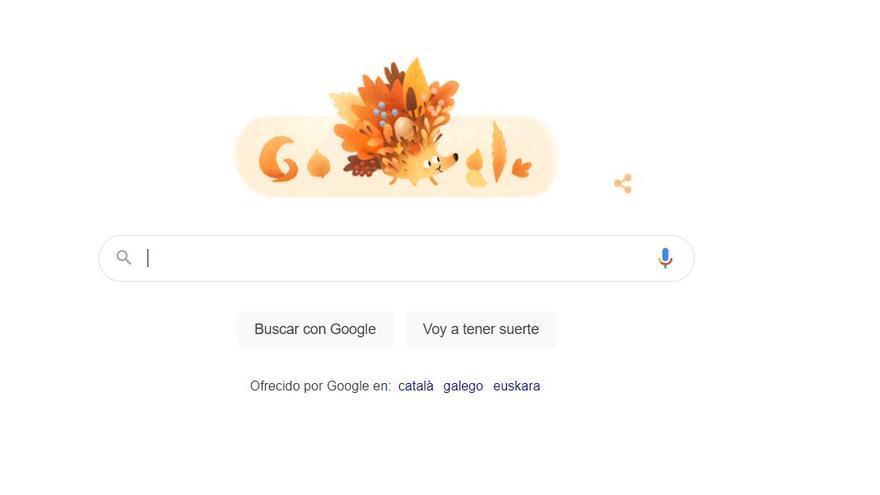 Google dedica su 'doodle' a la llegada del otoño