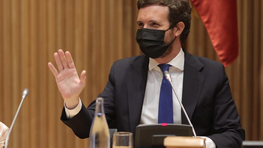 Casado anuncia un recurso contra los indultos como víctima de los CDR