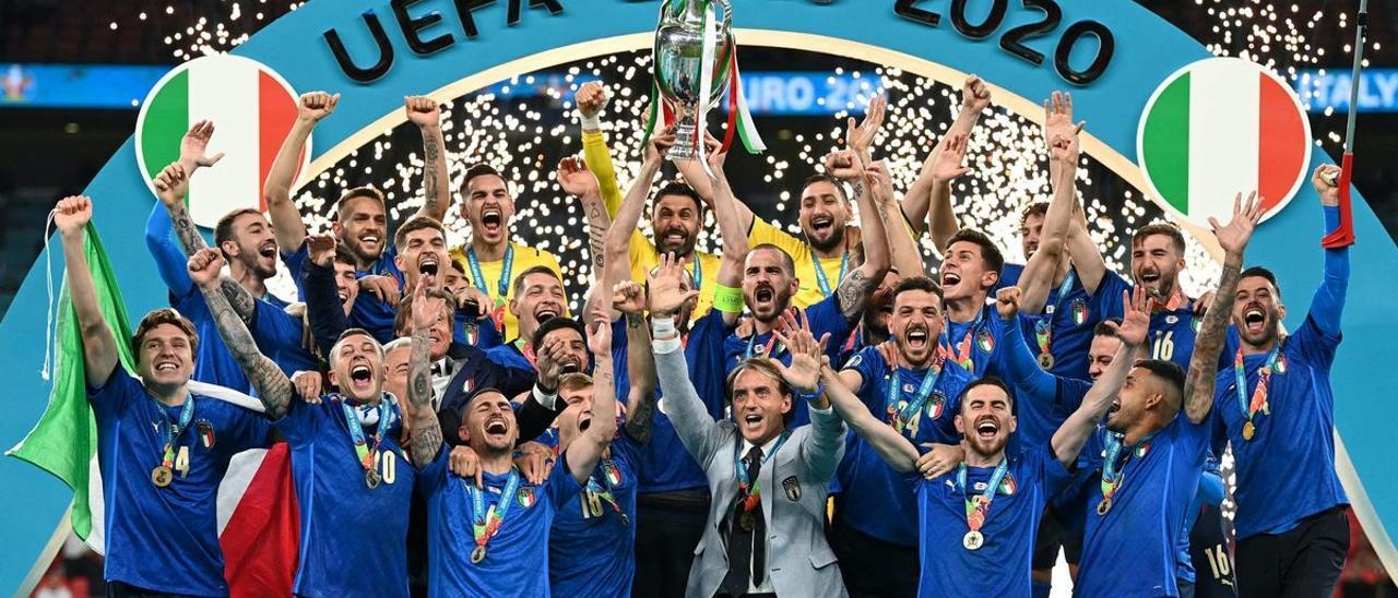 Italia celebra la conquista de la Eurocopa.