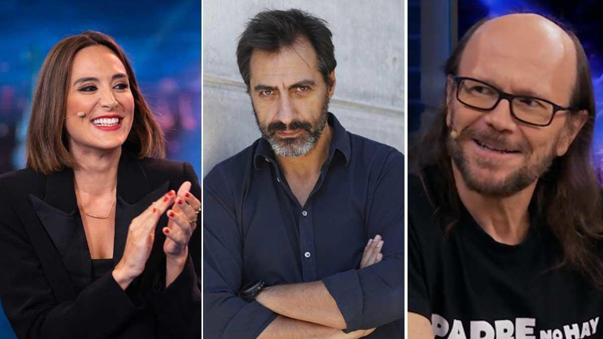Tamara Falcó, Juan del Val y Santiago Segura.