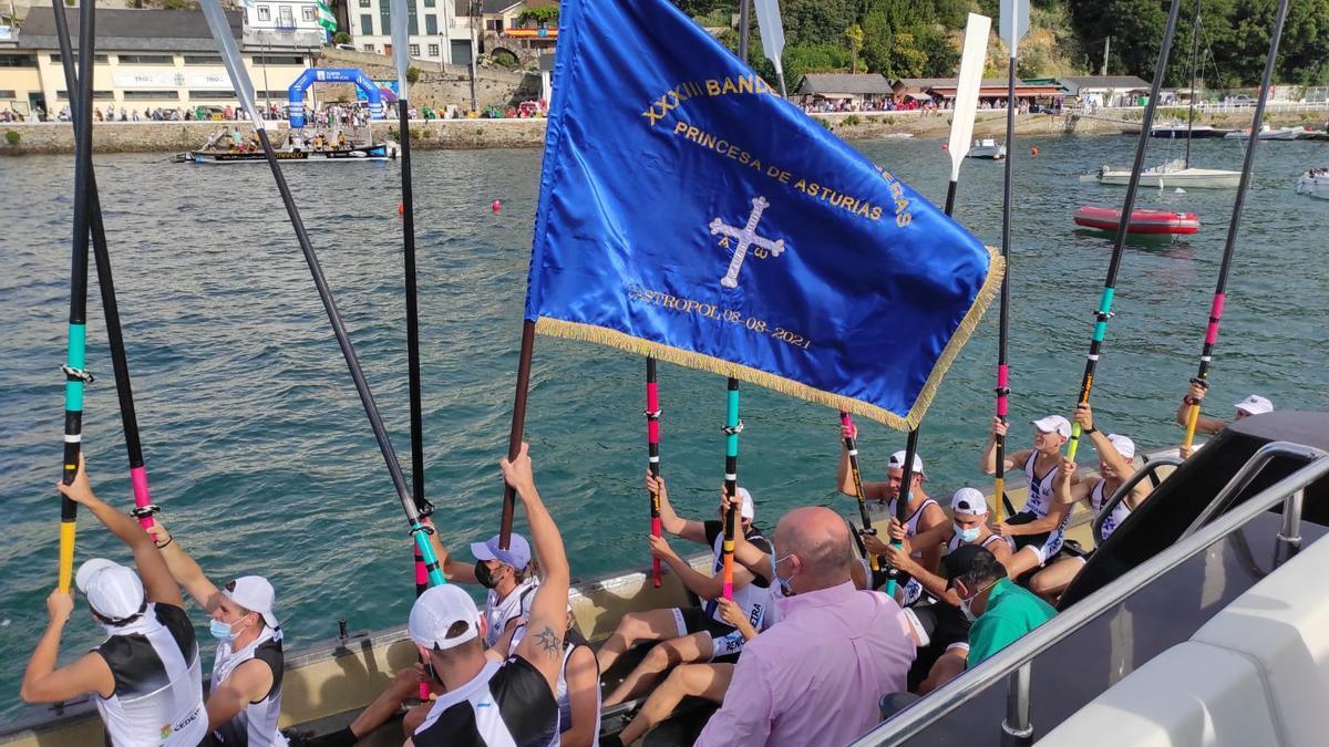 Castropol acoge la XXXIII Bandera Princesa de Asturias de Traineras