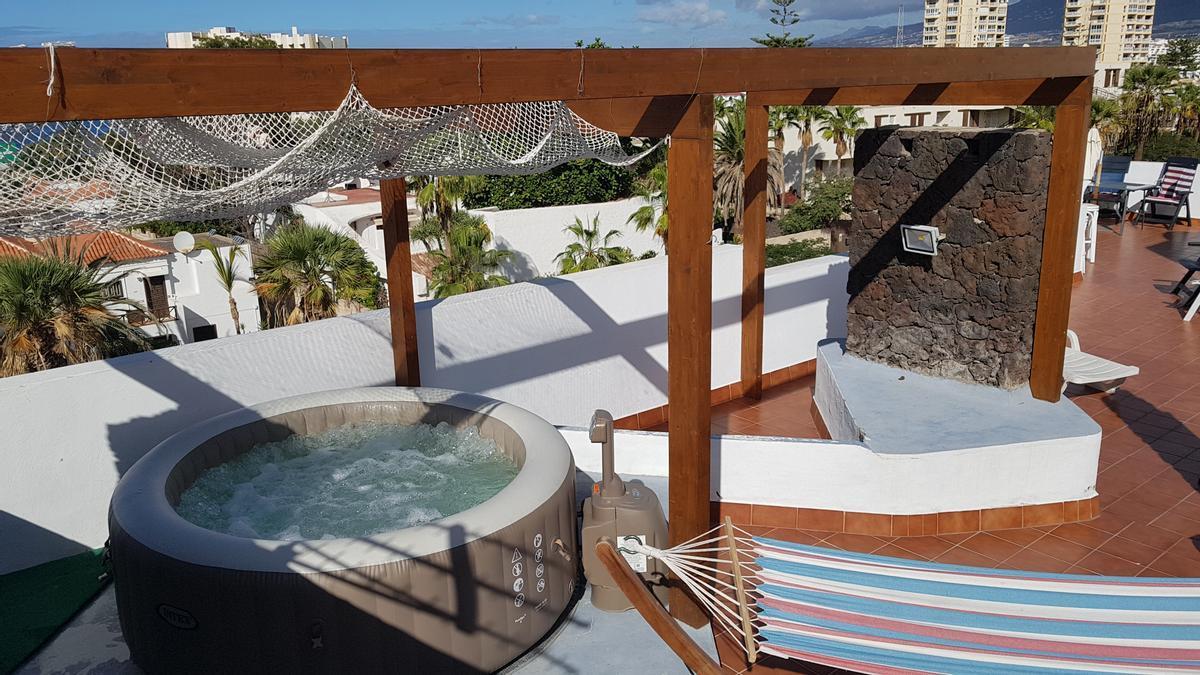 Una terraza que se alquila por horas en Tenerife.