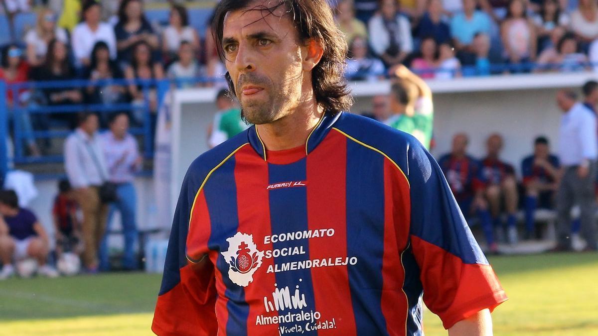 Miguel Ángel Marín, el día que regresó en el homenaje a los héroes del ascenso hace ahora cinco años.