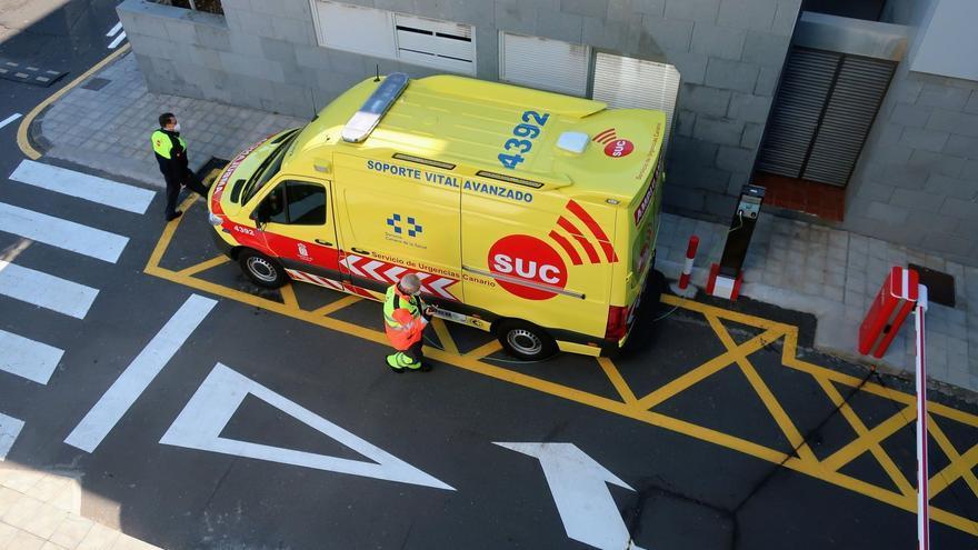 Un ciclista, herido al sufrir una caída en Santa Cruz de Tenerife