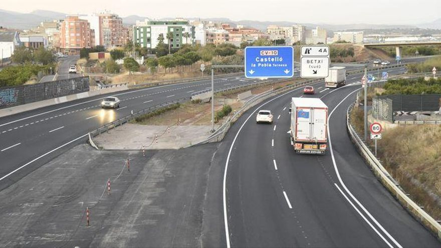 Abren al tráfico la CV-10 en Borriol tras acabar las obras antes de lo previsto