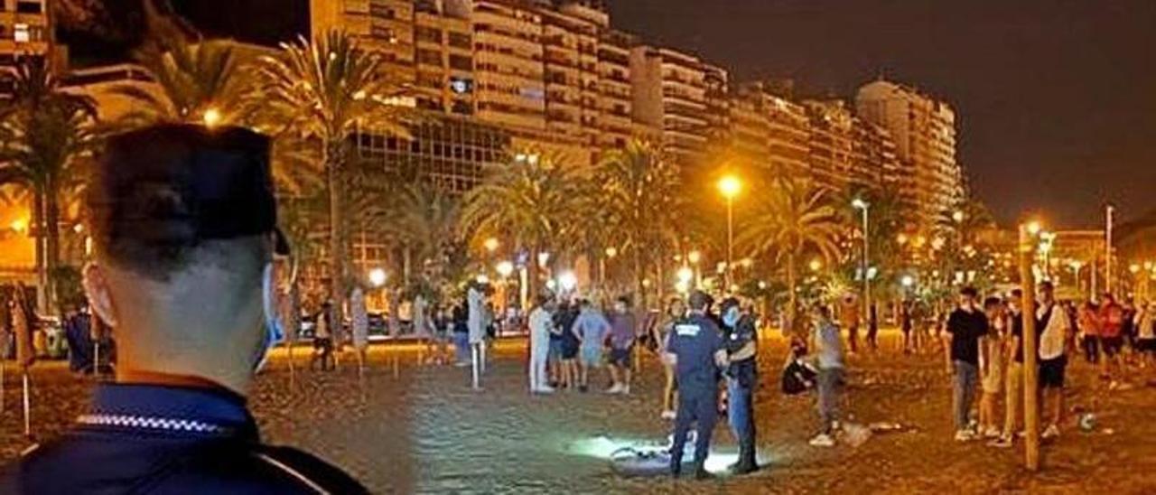 La Policía Local de Alicante en el Postiguet. | INFORMACIÓN