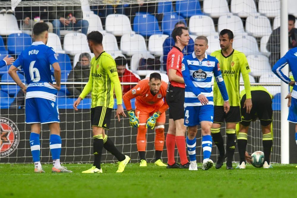 El Dépor cae 1-3 ante el Zaragoza