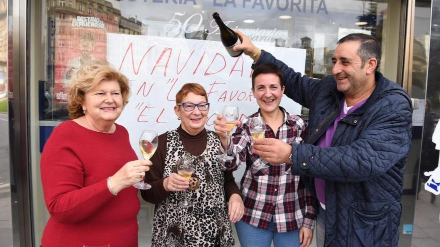 Las imágenes de la celebración del Gordo en A Coruña