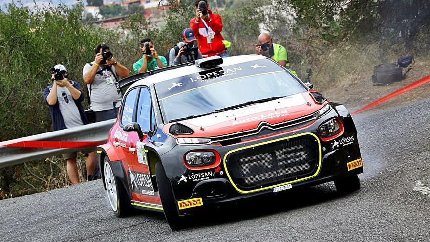 Luis Monzón, a pelear por su primer triunfo en el Regional en el Rally Isla Tenerife