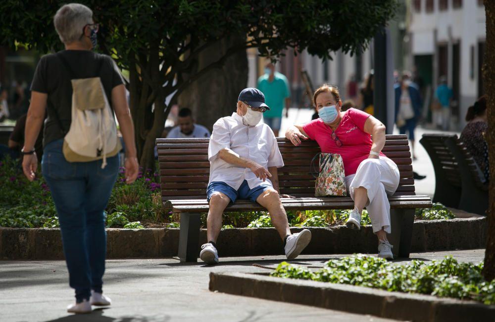 Uso de mascarillas en Tenerife.