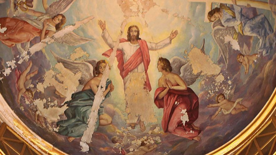 Restauran la cúpula y las pinturas de la iglesia de Quatretonda