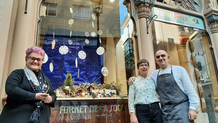 Las fotos del belén por el pequeño comercio y los artesanos de Can Corbella