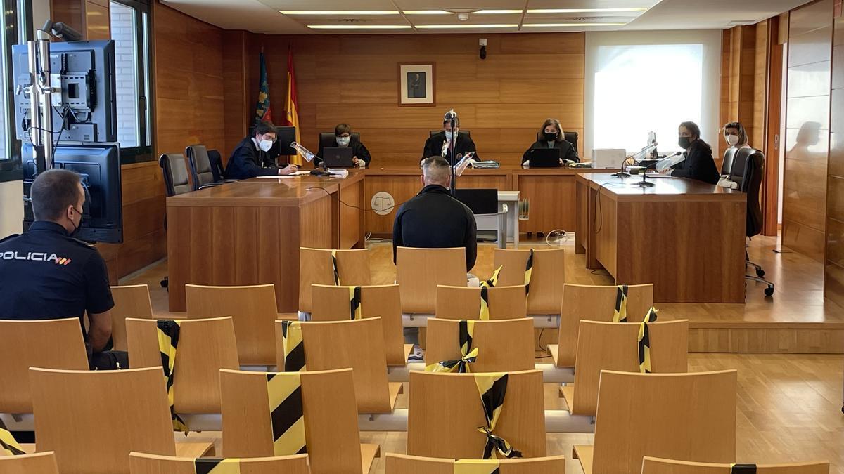 Imagen de la sesión en la Audiencia Provincial