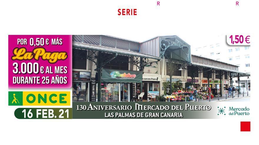 El Mercado del Puerto celebra su 130 aniversario en el cupón de la ONCE