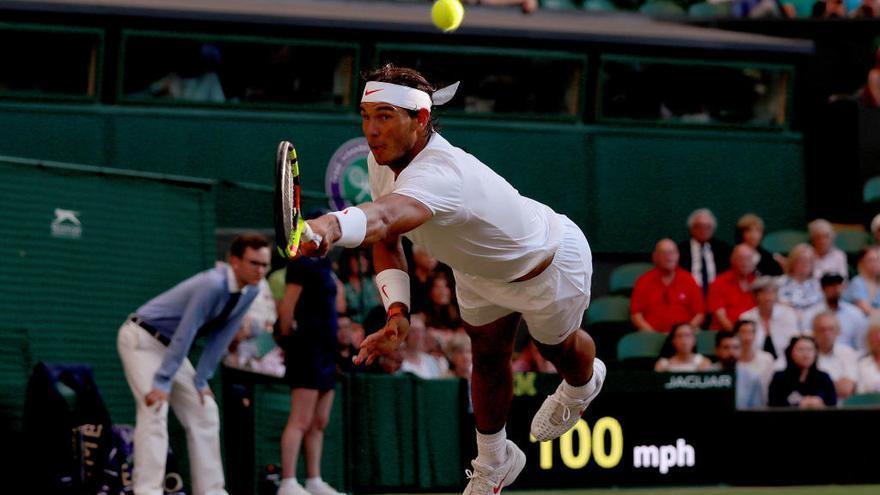 Nadal, a semifinales de Wimbledon tras ganar a Del Potro en un partido épico