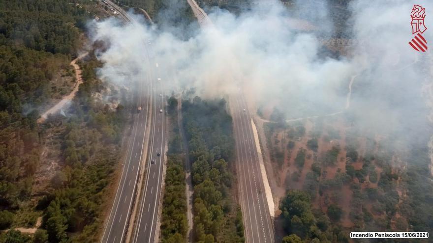 ACTUALIZACIÓN | El incendio forestal en Peñíscola y Santa Magdalena ya está controlado