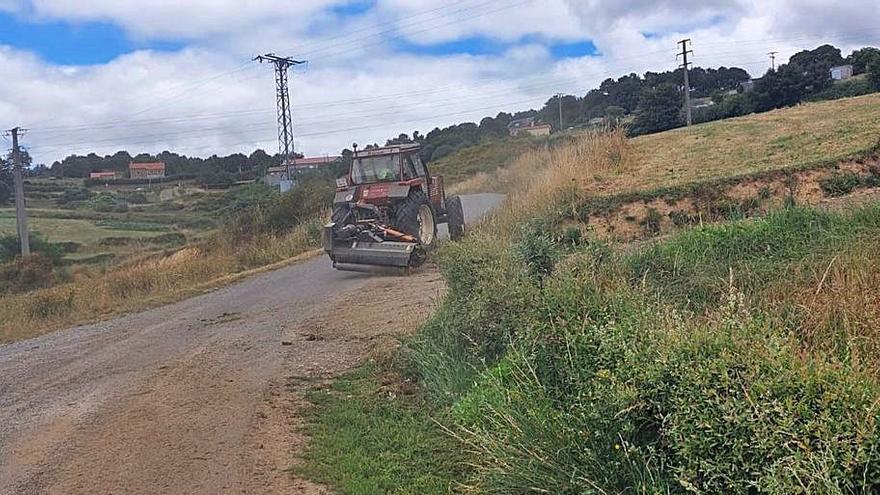 Medela critica que la empresa contratada no acometa los desbroces en Vilatuxe