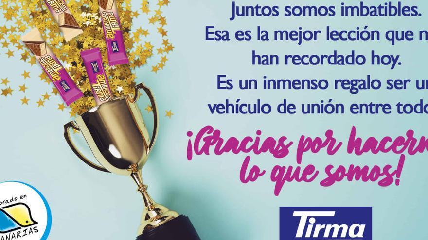 Las ambrosías Tirma vuelven a unir a los canarios en Twitter