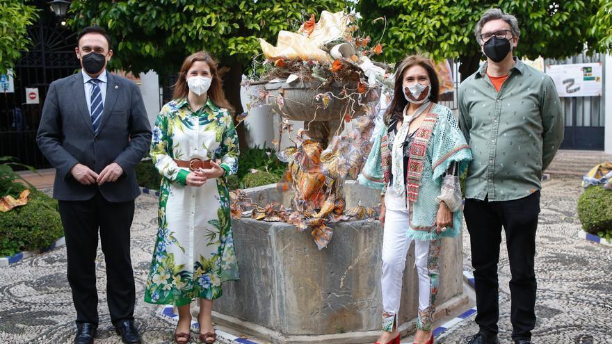 El patio del Bellas Artes acoge la instalación 'Naturaleza cósmica: Santuario de la Mariposa Monarca'