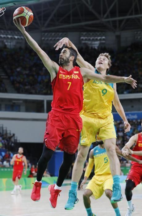Imagen del partido por el bronce de baloncesto entre España y Australia.