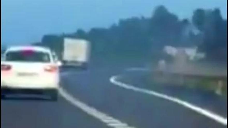 Otro conductor kamikaze pillado infraganti