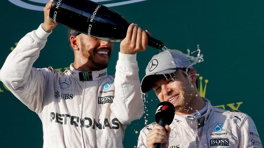El título de campeón de Nico Rosberg, en imágenes