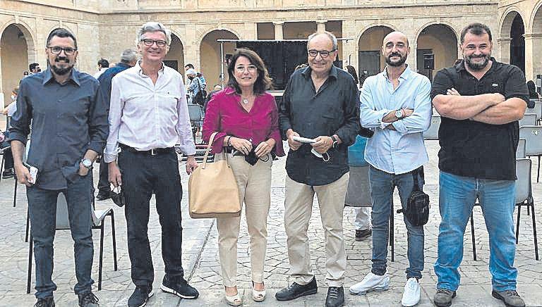 José Cortés, Ramón García, Antònia Torres, Antoni Bennàssar, Kike Martí y Miquel Calent.