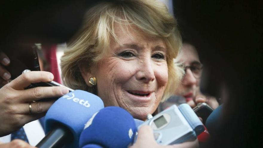Anticorrupció demana imputar Esperanza Aguirre pel finançament irregular del PP de Madrid