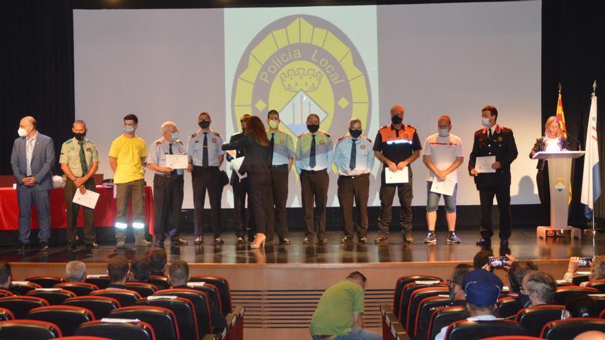 Llançà agraeix el suport d'entitats, cossos policials i d'emergències durant el foc de juliol i el confinament