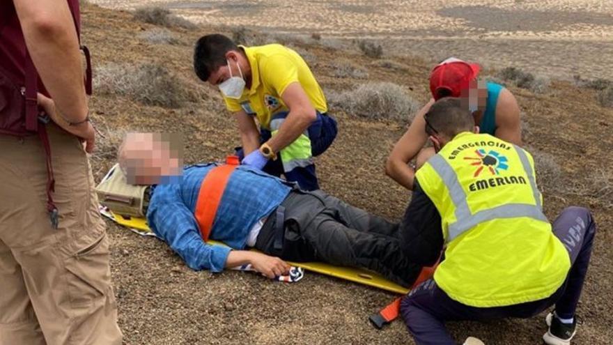 Rescatan a un senderista herido en La Graciosa