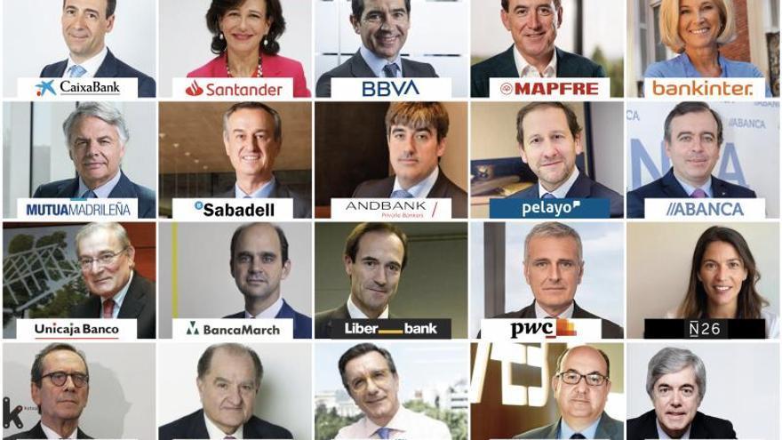 El Instituto de Coordenadas elabora el 'Top 20' de directivos más relevantes del sector financiero en España