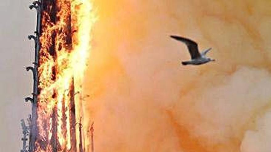 Las llamas arrasan Notre Dame en París