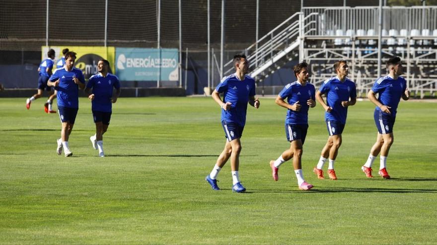Fran Gámez ya se ha entrenado hoy con el Zaragoza a las órdenes de Juan Ignacio Martínez