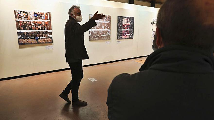 Una muestra pictórica de Rafa Dueñas repasa la historia de los ultramarinos