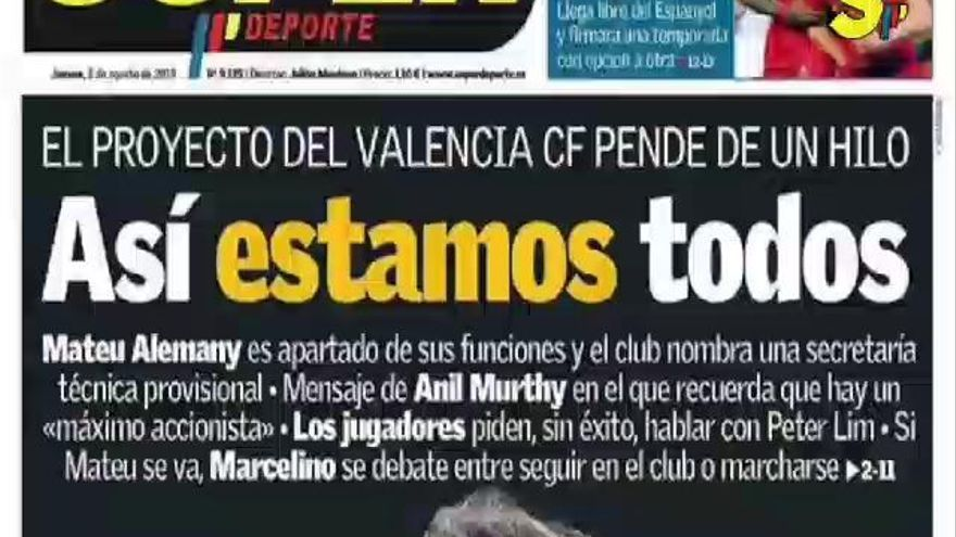 Este es el resumen de la crisis del Valencia CF