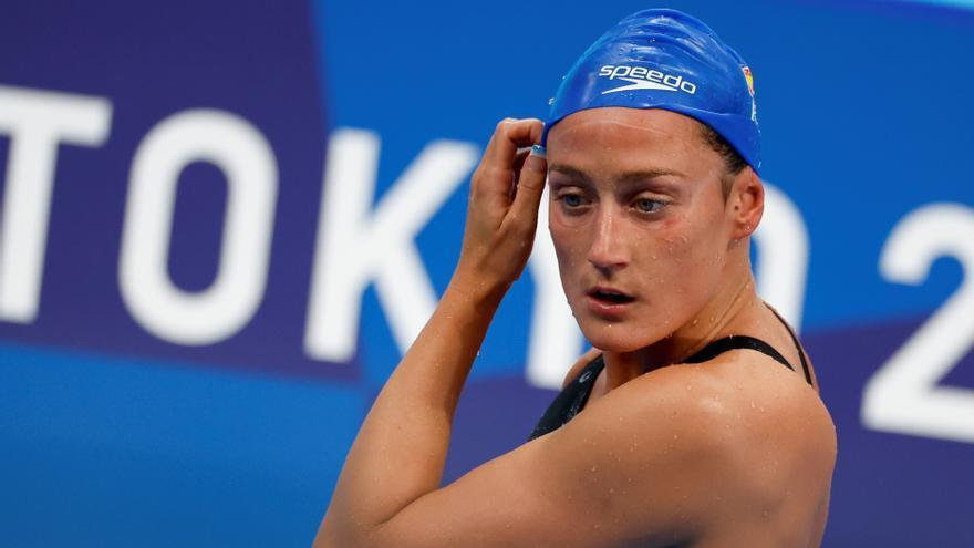 Mireia Belmonte cae en las preliminares de los 800 libre y se despide de las medallas
