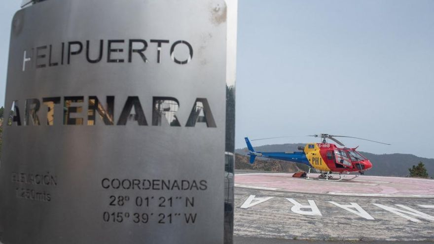 El Cabildo incorpora el segundo helicóptero contraincendios para la campaña de verano