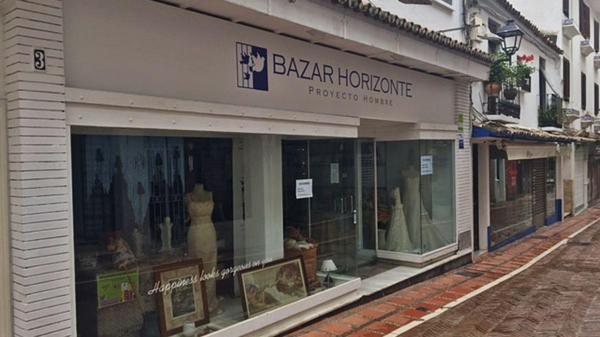 Un bazar solidario de Horizonte Proyecto Hombre ubicado en el Casco Antiguo de Marbella. | L. O.