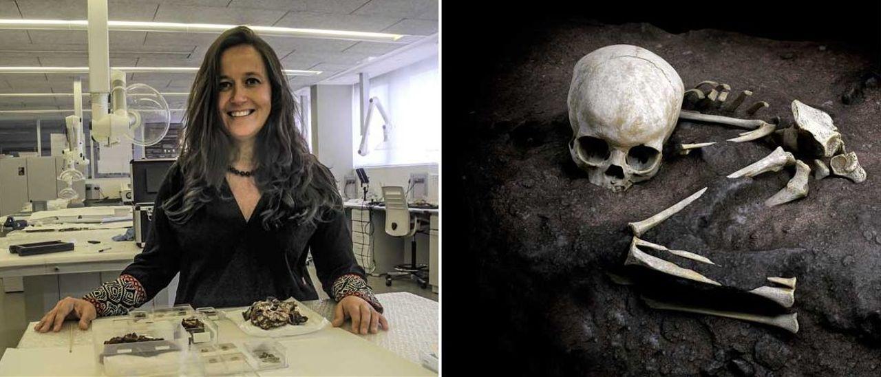 La científica gallega María Martiñón, que identificará los restos, en el CNIEH de Burgos.