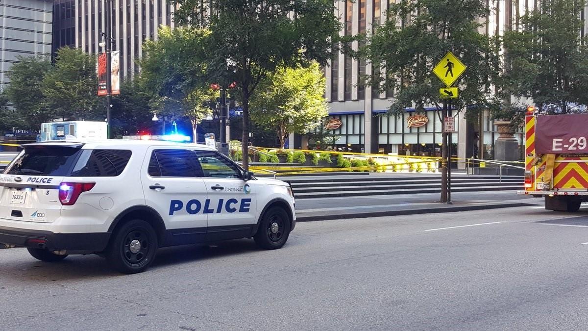 Un coche de la Policía en EEUU.