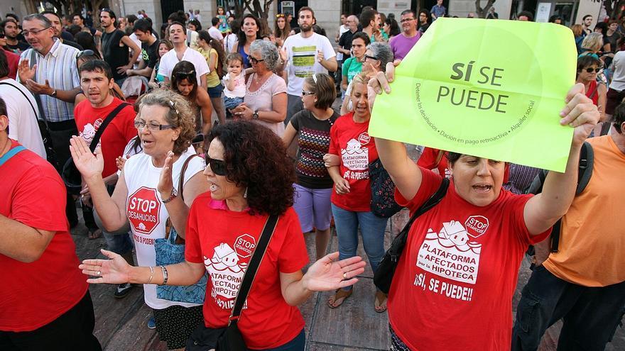 Los desahucios caen un 42% en Málaga pero repunta la cifra de ejecuciones hipotecarias