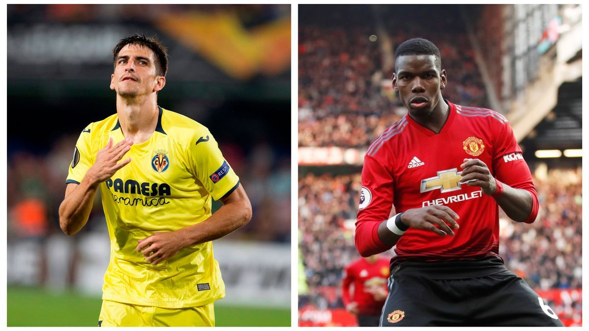 Gerard Moreno y Paul Pogba son dos de los referentes en Villarreal y Manchester United.