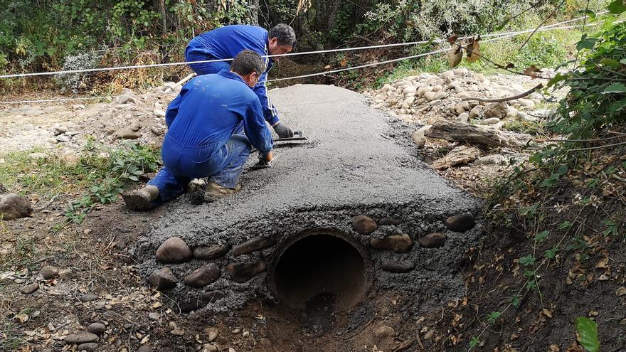 Restauración de la presa y caño 'La Veiga' en el río Castro de Sanabria