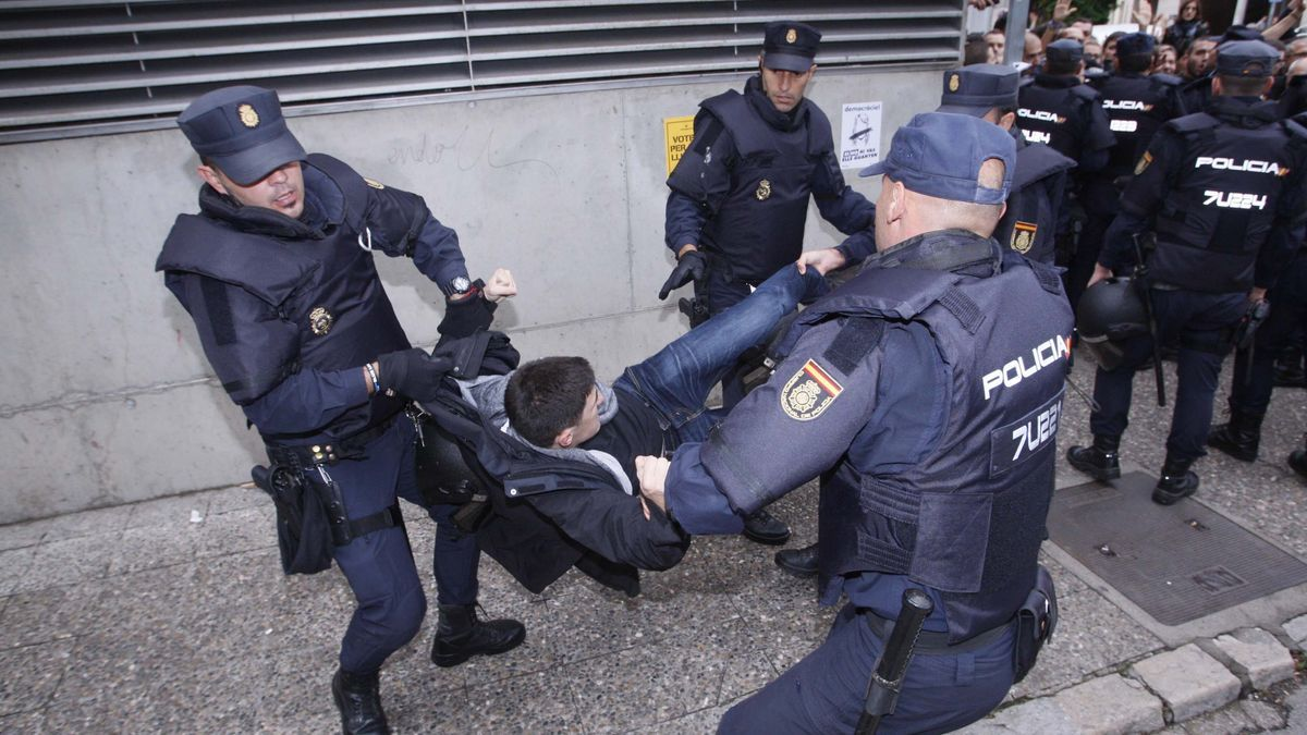 Actuació policial l'1-O a Girona