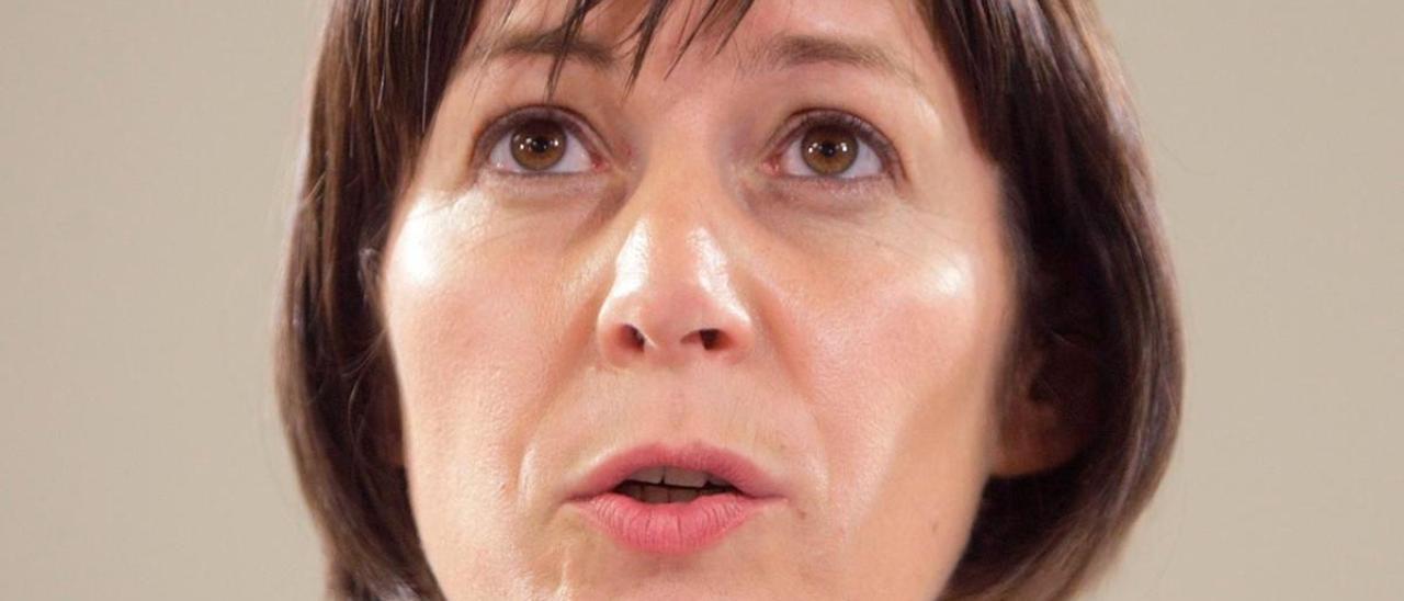 Ana Pontón durante la noche electoral en Galicia