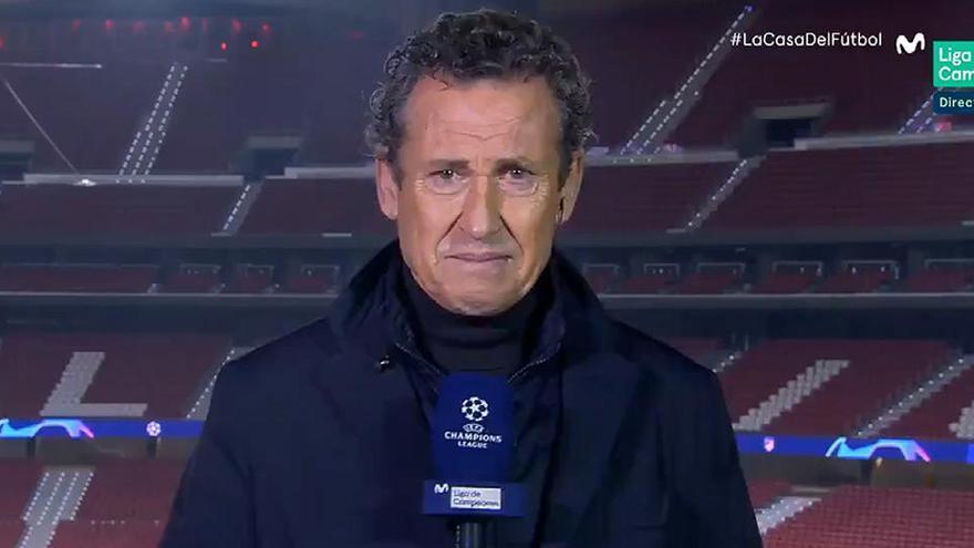 Valdano rompe a llorar en directo por Maradona